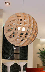 12W Vintage LED Others Wood/Bamboo Chandeliers Living Room / Bedroom / Dining Room / Study Room/Office / Hallway