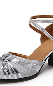 Sapatos de Dança(Azul / Roxo / Prateado / Cinza / Dourado) -Feminino-Não Personalizável-Latina / Moderna