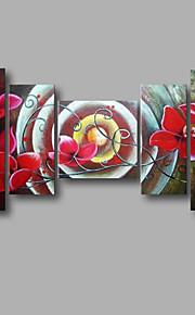 """estirada (listo para colgar) pintura al óleo pintado a mano 58 flores modernas """"x32"""" arte de la pared de la lona de la orquídea roja"""