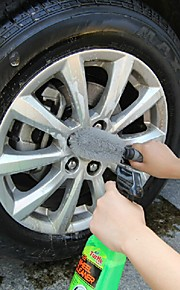 ziqiao accesorios herramientas llanta del neumático de rueda de coche friega el cepillo de lavado de vehículos automóviles de cubo de
