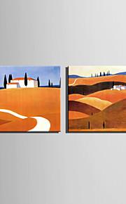 언덕 순수한 손에 미니 사이즈 전자 홈 유화 현대 오두막 틀 장식 그림을 그립니다