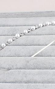 結婚式 / パーティー / カジュアル / オフィス / 屋外 成人用 真珠 / ラインストーン かぶと ヘッドバンド 1個