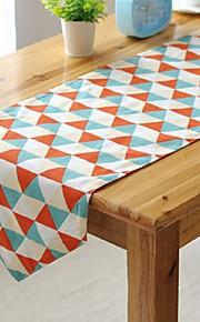 veelkleurig triangle patroon tafelloper mode hotsale hoogwaardige katoen tafelblad deco