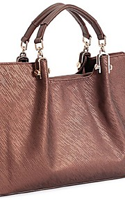 Women PVC Shopper Tote-Brown