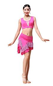 Belly Dance Outfits Women's Training Modal Rhinestones / Draped 2 Pieces Black / Fuchsia / Purple / Orange / Burgundy