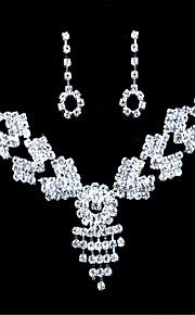 Licht Metaal / Bergkristal Dames Sieraden set Bergkristal
