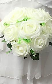 Bouquets(Fuchsia / Rose / Rouge / Vert / Blanc / Champagne / Multicolore,Satin)Roses