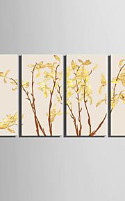 Botanisch Canvas Afdrukken Vier panelen Klaar te hangen,Verticaal