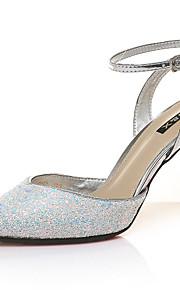 Chaussures Femme-Mariage / Bureau & Travail / Habillé / Décontracté / Soirée & Evénement-Blanc-Talon Aiguille-Talons-Talons-Synthétique
