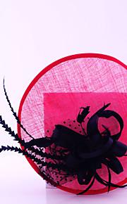 Женский Свадьба / Особые случаи / На каждый день / на открытом воздухе Заставка Атлас / Перья / Тюль / Лен ВуалеткиСвадьба / Особые