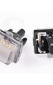 Clase E 2011 2pcs año Mercedes-ben-z w212 5d 4d llevó matrícula de la lámpara 12v 14w llevó con decodificador llevada especial