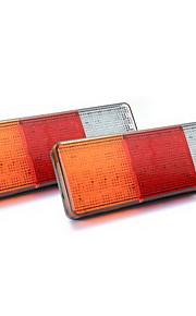 2x 75 llevó la lámpara roja / amarillo / blanco de la luz trasera para camiones remolque del barco 12v impermeable