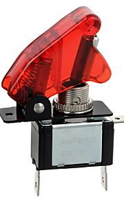 jtron rood / blauwe led verlichte auto toggle aan / uit schakelaar (12v / 20a)