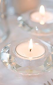Thème asiatique / Thème classique / Thème de conte de fées / Fête prénatale Favors Candle-1 Piece / Set Bougeoir Non personnalisé Blanc