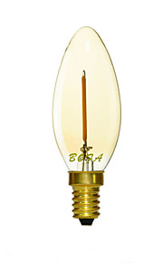 1W E14 / E12 / E26/E27 LED-lysestakepærer C35 1 COB 50-100 lm Varm hvit Dimbar / Dekorativ AC 220-240 / AC 110-130 V 1 stk.