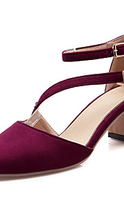 Women's Shoes Chunky Heel Heels / D'Orsay & Two-Piece Sandals Dress / Casual Black / Navy / Burgundy