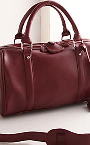 Women PU Weekend Bag Shoulder Bag / Tote-Brown / Black