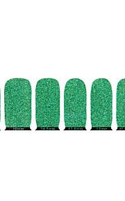 härlig grön miljövänlig glitter spik smycken