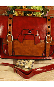 GG  Trend Handbags Portable Diagonal Messenger Bags PU Rivet Bow Flap Shoulder Bag
