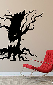 Botanical Halloween Ghost Tree Wall Stickers Fantasy / 3D Wall Stickers Plane Wall Stickers,vinyl 57*60cm