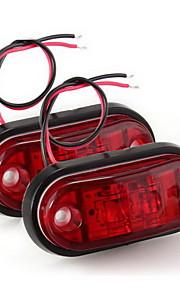 2 x remolque de camión coche piraña LED de la bombilla de la lámpara marcador de luz intermitente roja