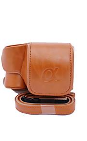 dengpin pu læder kamerataske taske Cover til Sony ilce-6300 a6300 16-50 linse (assorterede farver)