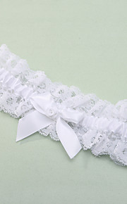 Garter Lace / Polyester Bowknot / Lace White