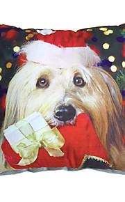 3D Design Print Merry Christmas Dog Decorative Throw Pillow Case Cushion Cover for Sofa Home Decor Soft Material