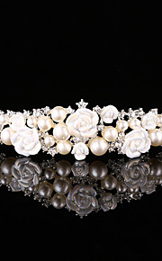 結婚式 / パーティー 成人用 真珠 / 合金 かぶと ヘッドバンド 1個