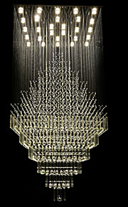 Led 80W Luxury Crystal Ceiling Lights/ K9 Crystal/Electroplated Metal Chandeliers for Living Room/Dining Room/ Hallway