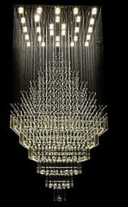 4W Lustre ,  Contemporain Plaqué Fonctionnalité for Cristal / LED Métal Salle de séjour / Salle à manger