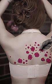 Fashion Large Temporary Tattoos Sexy Body Art Waterproof Tattoo Stickers Feather 2PCS