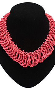 2016 Fashion Jewelry Mujer New Bohemian Necklaces Women Handmade Red Beads Choker Statement Necklaces