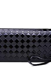 HOWRU ® Women 's PU Long Wallet/Card/Clutch bag-Black/Yellow