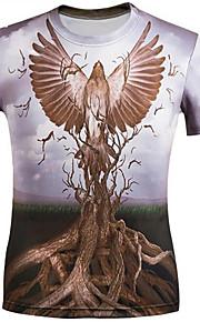 Menn Kortermet T-skjorte Polyester Fritid Trykk / Bokstaver