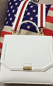 Women PU Hobo Shoulder Bag / Tote-White