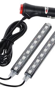 exled 10w 12v førte bil boligindretning lampe 1 til 2 blå lys