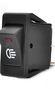 jtron auto switch / mist groen / rood licht schakelaar - zwart (30a / 12v)