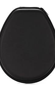 klassiek zwart pu opbergtas headset zak doos voor bluetooth sport hoofdtelefoon 20 * 16 * 4cm