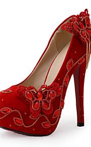 Chaussures de mariage-Rouge-Mariage / Habillé / Soirée & Evénement-Talons-Talons-Homme