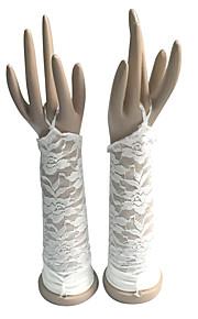 До локтя С открытыми пальцами Перчатка Хлопок Свадебные перчатки / Вечерние перчатки