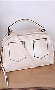 Women PU Shell Tote-White / Pink / Blue / Red / Black