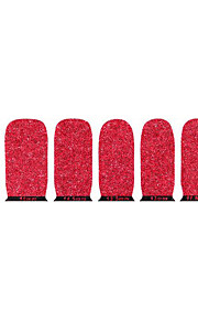 vackra röda miljövänligt glitter spik smycken