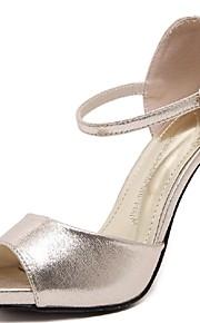 Серебристый / Золотистый-Женская обувь-Свадьба / Для праздника / Для вечеринки / ужина-Лакированная кожа-На шпильке-На каблуках / С