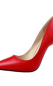 Chaussures Femme-Bureau & Travail / Décontracté-Noir / Jaune / Rose / Rouge / Ivoire / Gris-Talon Aiguille-Talons / Bout Pointu / Bout