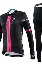 naisten pyöräily sininen perhonen pitkähihainen paita polkupyörä hengittävä kuivuu nopeasti jersey + pyörä 3d tyyny pad housut sopivat