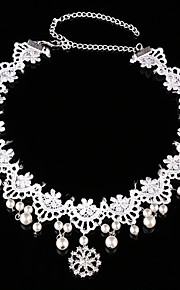 Women's / Flower Girl's Lace / Pearl Headpiece-Wedding / Special Occasion Head Chain 1 Piece