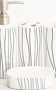 klassisk badeværelse fire stykke kulør (tilfældigt mønster)