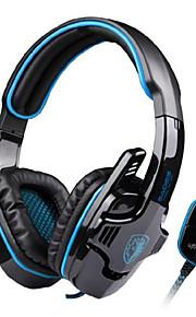 sades sa-901 usb kablet 7.1 surround støjreducerende pc gaming headset med mikrofon øretelefon