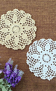 16cm 20pcs/lot Retro Pastoral Flower Placemat Table Mat Handmade Cotton Round Doily Insulation Cup Pads Doilies